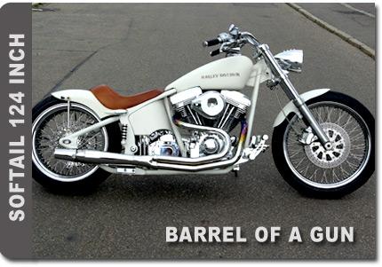 Barrel of a gun Softail 124 inch