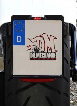 Dr Mechanik Shop Kennzeichenhalter Delight Flash schwarz 01