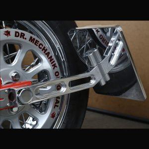 Dr Mechanik Shop Kennzeichenhalter seitlich klappbar poliert 01