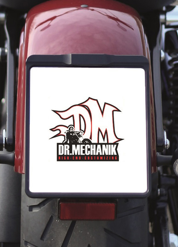 Dr Mechanik Shop Kennzeichenhalter Shine schwarz 01